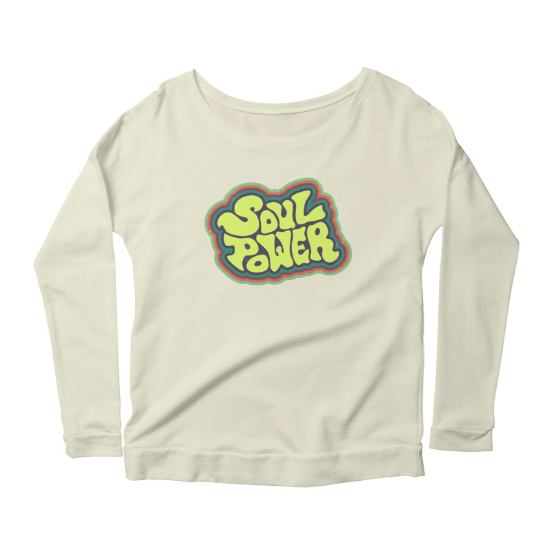 Soul Power Women's Longsleeve Scoopneck  by Jason Castillo Illustration