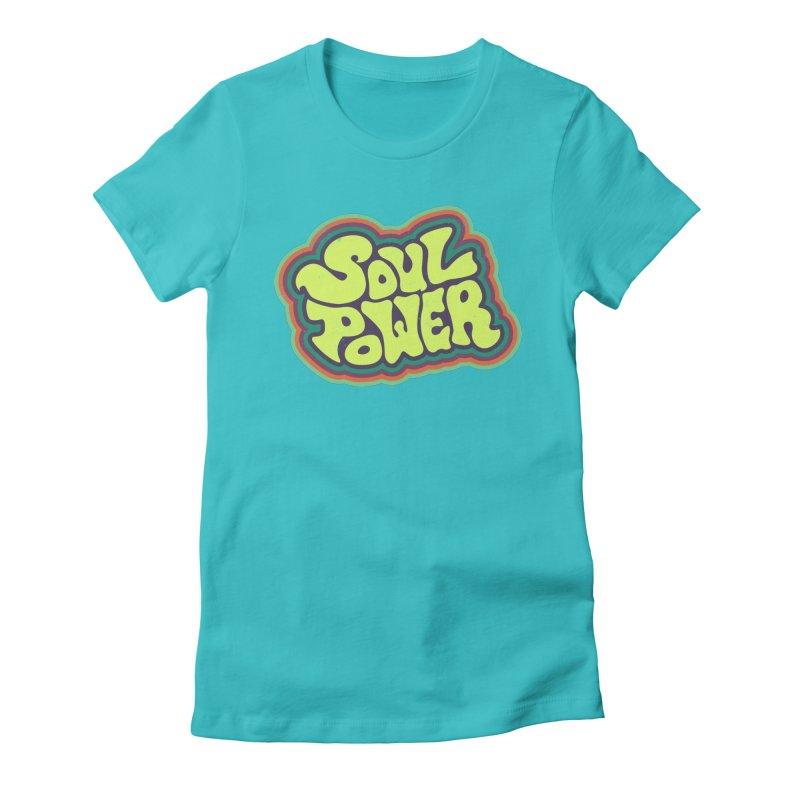 Soul Power Women's Fitted T-Shirt by Jason Castillo Illustration