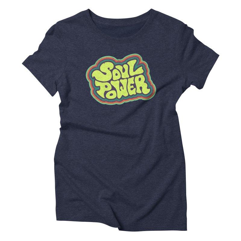 Soul Power Women's Triblend T-Shirt by Jason Castillo Illustration