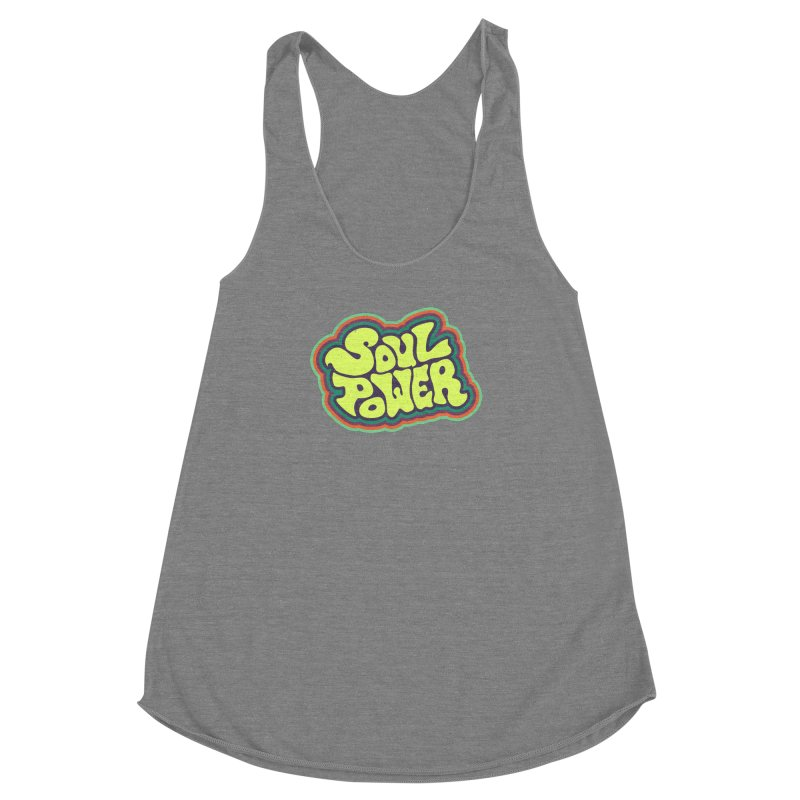 Soul Power Women's Racerback Triblend Tank by Jason Castillo Illustration