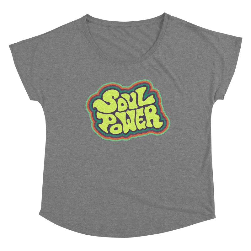 Soul Power Women's Scoop Neck by Jason Castillo Illustration