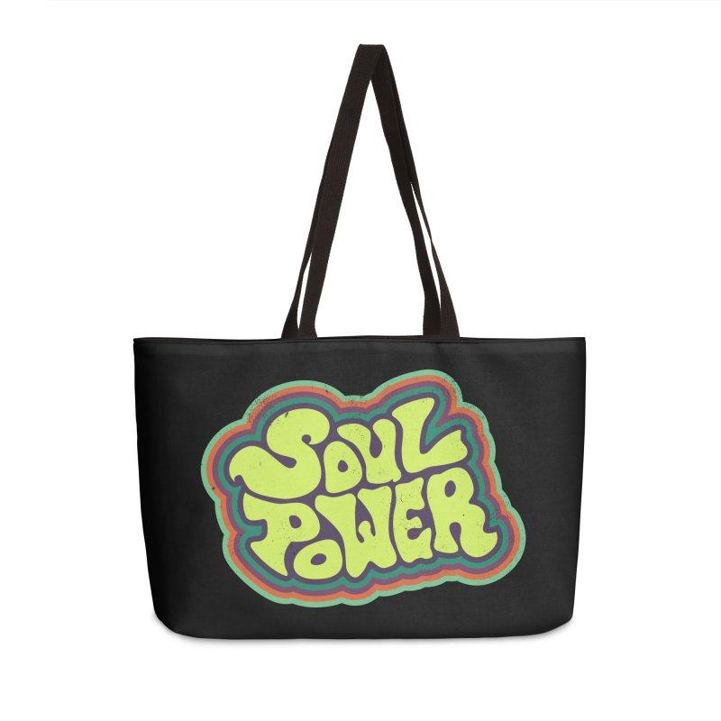 Soul Power Accessories Weekender Bag Bag by Jason Castillo Illustration