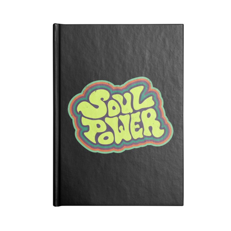 Soul Power Accessories Lined Journal Notebook by Jason Castillo Illustration