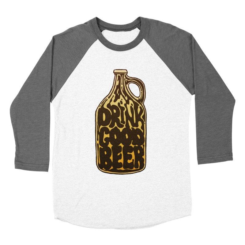 Drink Good Beer Women's Longsleeve T-Shirt by Jason Castillo Illustration
