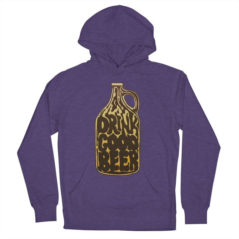 Drink Good Beer Women's French Terry Pullover Hoody by Jason Castillo Illustration