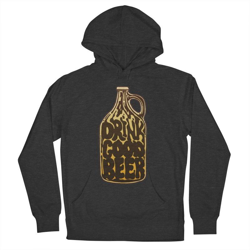 Drink Good Beer Men's French Terry Pullover Hoody by Jason Castillo Illustration