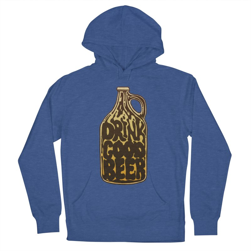 Drink Good Beer Men's French Terry Pullover Hoody by Jason Castillo Illustration