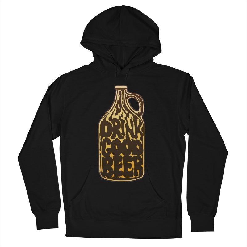 Drink Good Beer Men's Pullover Hoody by Jason Castillo Illustration