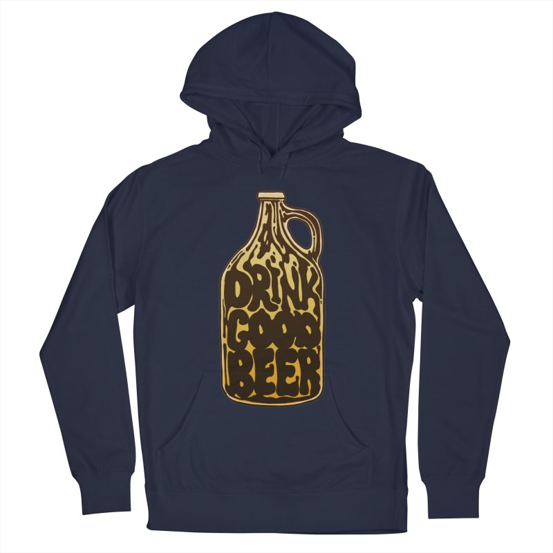 Drink Good Beer Men's Pullover Hoody by Jason Castillo Illustration