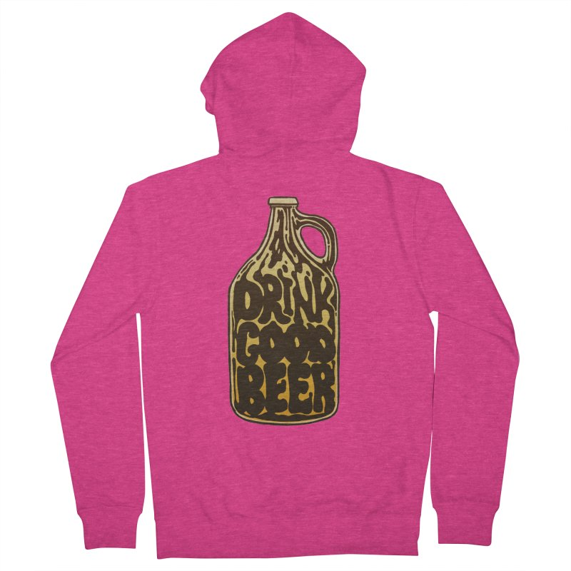 Drink Good Beer Women's French Terry Zip-Up Hoody by Jason Castillo Illustration