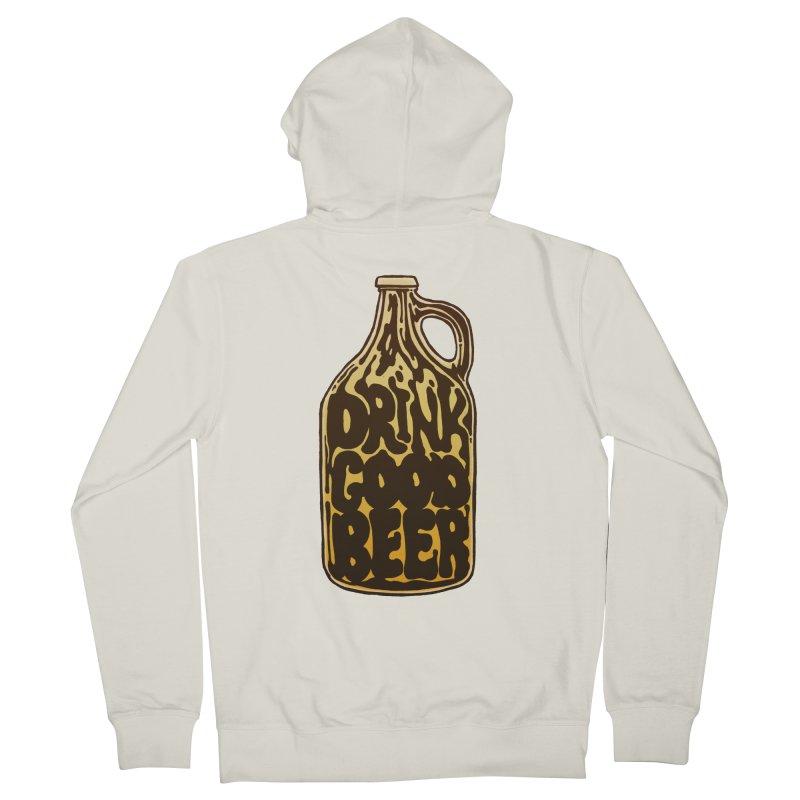 Drink Good Beer Women's Zip-Up Hoody by Jason Castillo Illustration