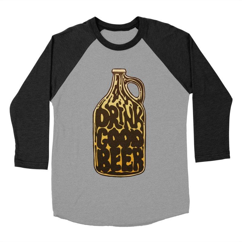 Drink Good Beer Women's Baseball Triblend Longsleeve T-Shirt by Jason Castillo Illustration