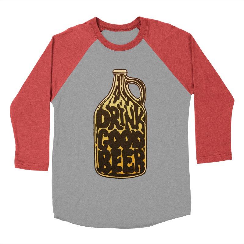 Drink Good Beer Men's Baseball Triblend T-Shirt by Jason Castillo Illustration