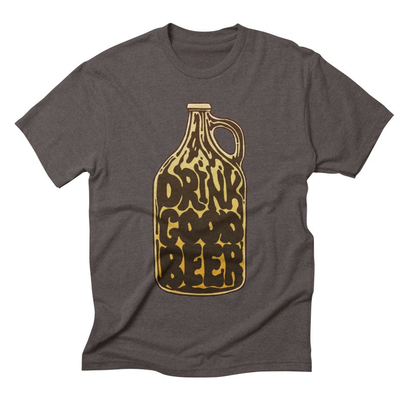 Drink Good Beer Men's Triblend T-shirt by Jason Castillo Illustration