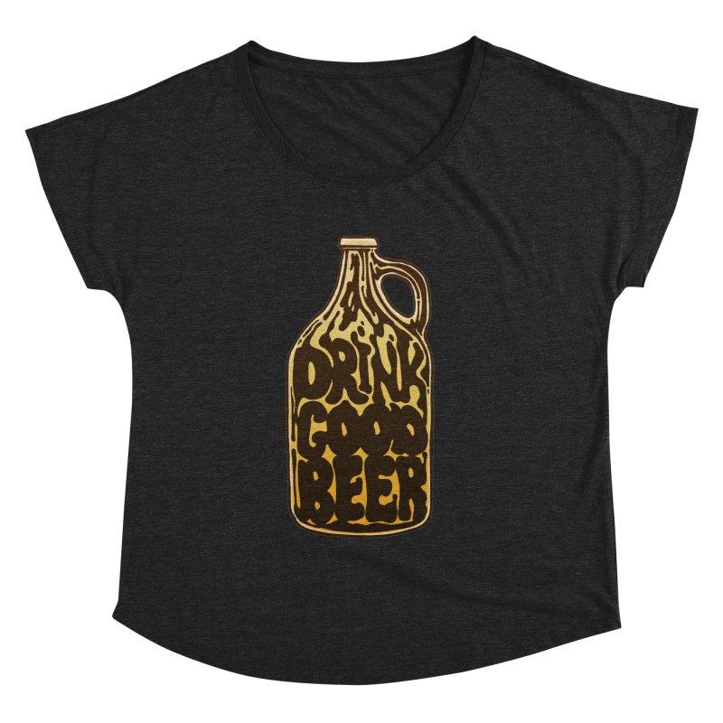 Drink Good Beer Women's Dolman by Jason Castillo Illustration