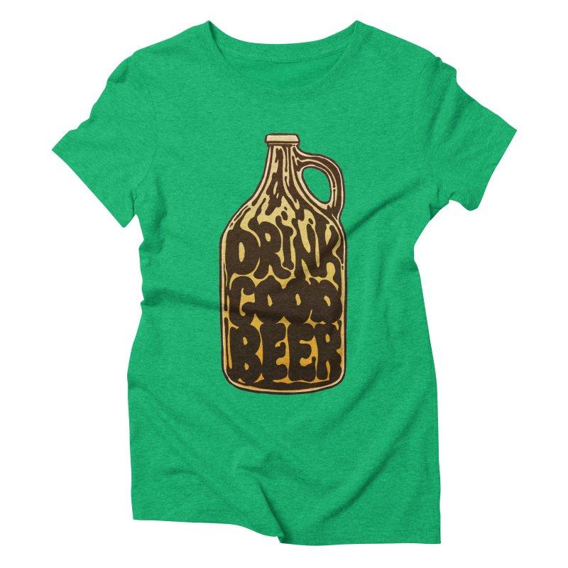 Drink Good Beer Women's Triblend T-Shirt by Jason Castillo Illustration