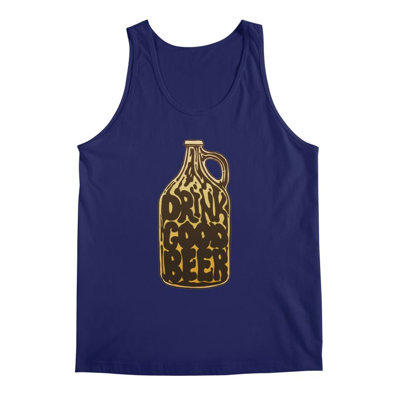 Drink Good Beer Men's Tank by Jason Castillo Illustration