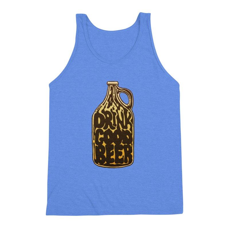 Drink Good Beer Men's Triblend Tank by Jason Castillo Illustration