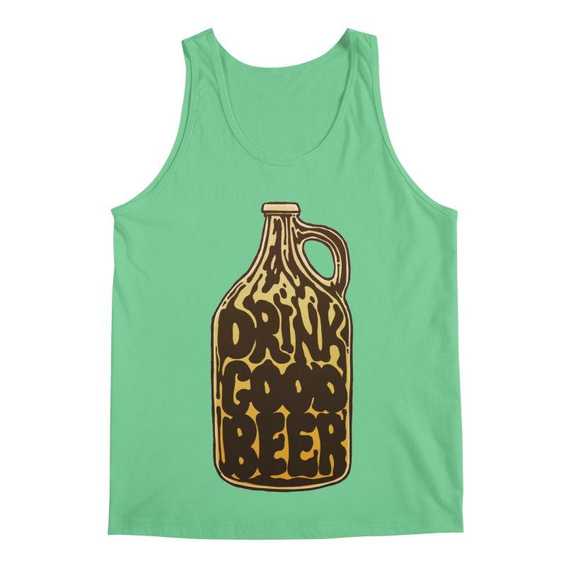 Drink Good Beer Men's Regular Tank by Jason Castillo Illustration