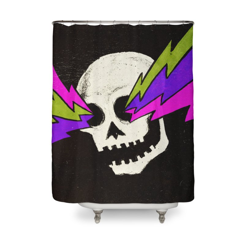 Variations on a Skull Part One Home Shower Curtain by Jason Castillo Illustration