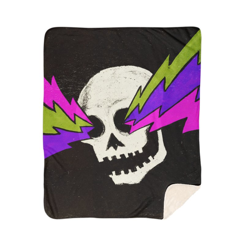 Variations on a Skull Part One Home Sherpa Blanket Blanket by Jason Castillo Illustration