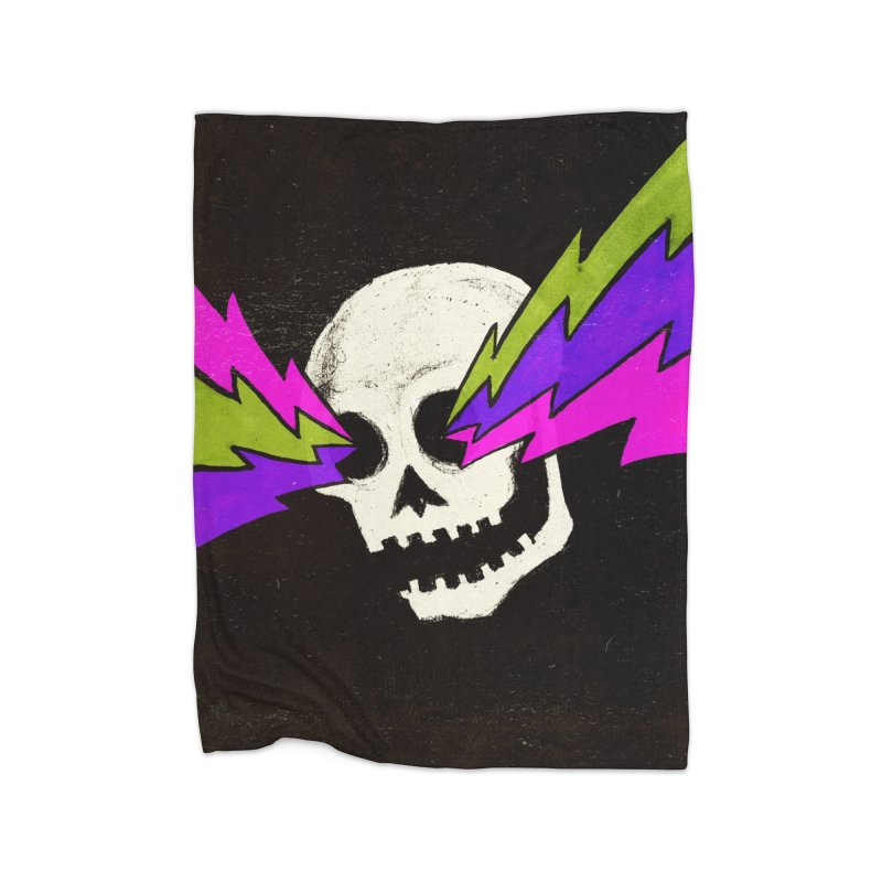 Variations on a Skull Part One Home Fleece Blanket Blanket by Jason Castillo Illustration