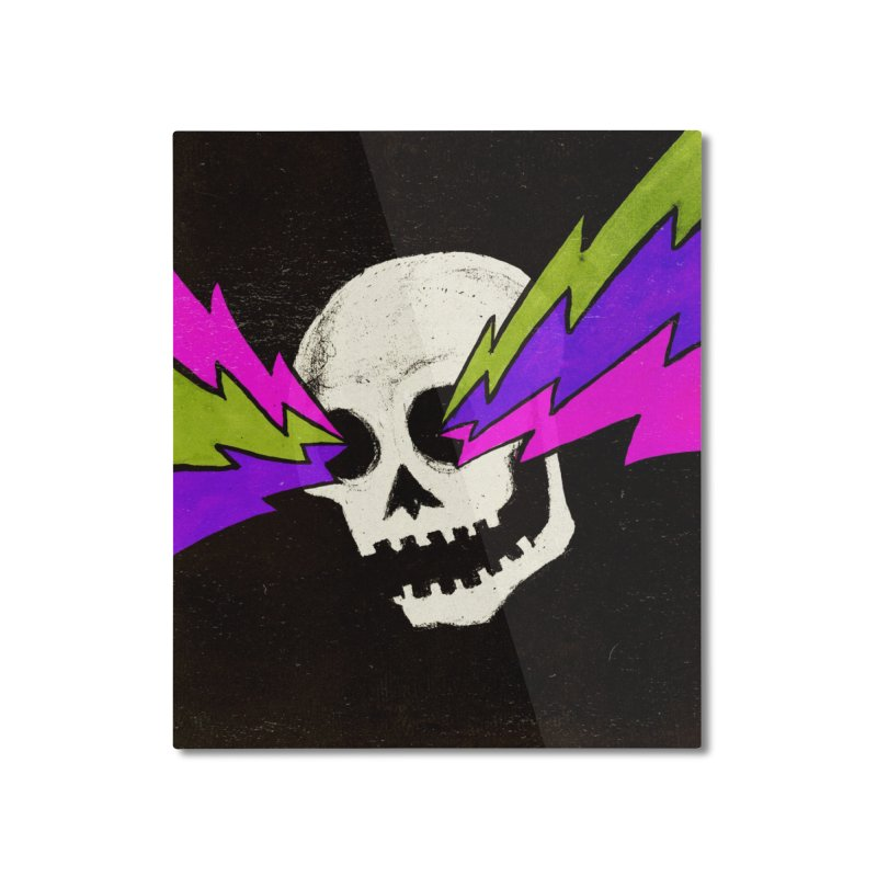 Variations on a Skull Part One Home Mounted Aluminum Print by Jason Castillo Illustration