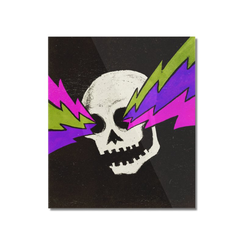 Variations on a Skull Part One Home Mounted Acrylic Print by Jason Castillo Illustration