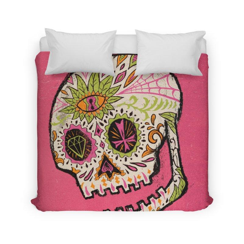 Variations on a Skull Part 2: Day of the Dead Home Duvet by Jason Castillo Illustration