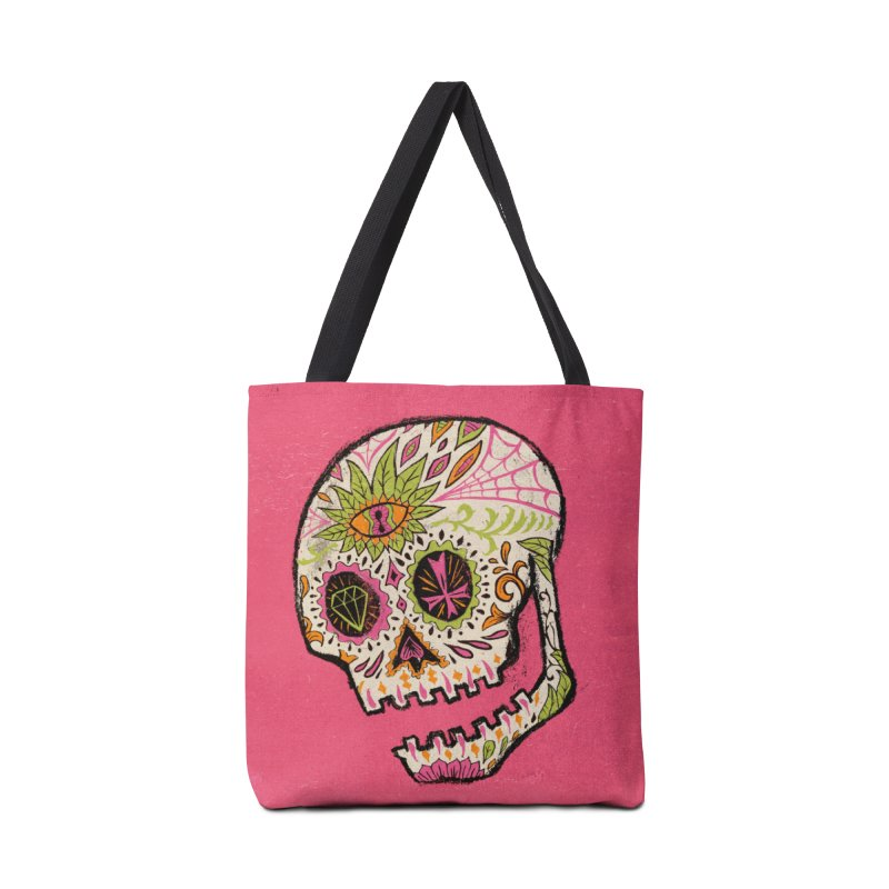 Variations on a Skull Part 2: Day of the Dead Accessories Tote Bag Bag by Jason Castillo Illustration