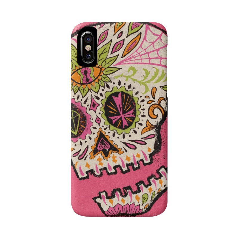Variations on a Skull Part 2: Day of the Dead Accessories Phone Case by Jason Castillo Illustration