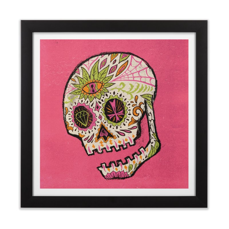 Variations on a Skull Part 2: Day of the Dead Home Framed Fine Art Print by Jason Castillo Illustration