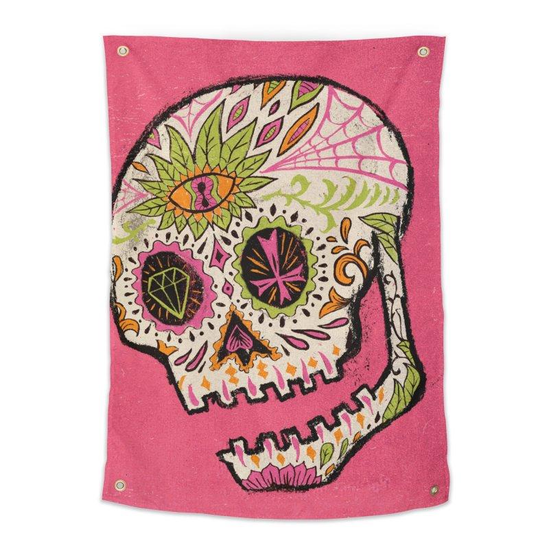 Variations on a Skull Part 2: Day of the Dead Home Tapestry by Jason Castillo Illustration
