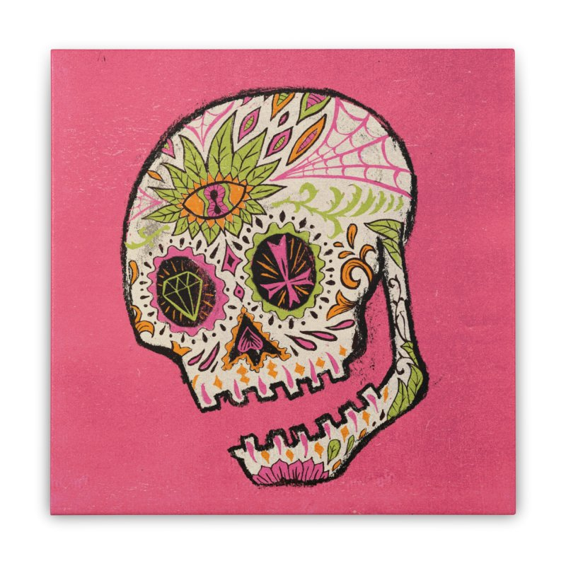 Variations on a Skull Part 2: Day of the Dead Home Stretched Canvas by Jason Castillo Illustration