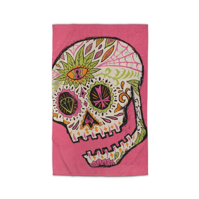 Variations on a Skull Part 2: Day of the Dead Home Rug by Jason Castillo Illustration