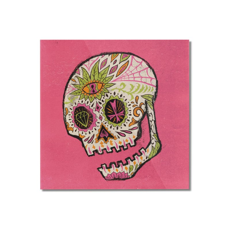 Variations on a Skull Part 2: Day of the Dead Home Mounted Acrylic Print by Jason Castillo Illustration