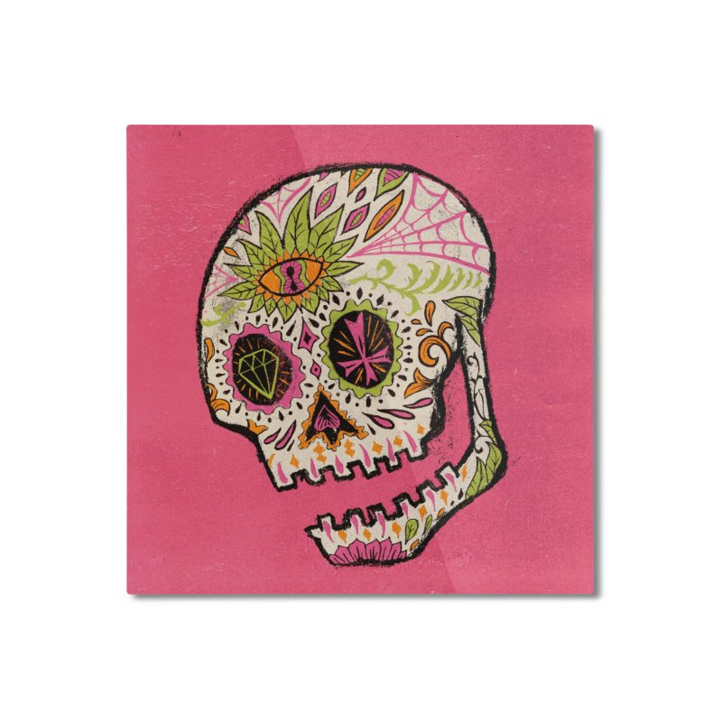 Variations on a Skull Part 2: Day of the Dead Home Mounted Aluminum Print by Jason Castillo Illustration