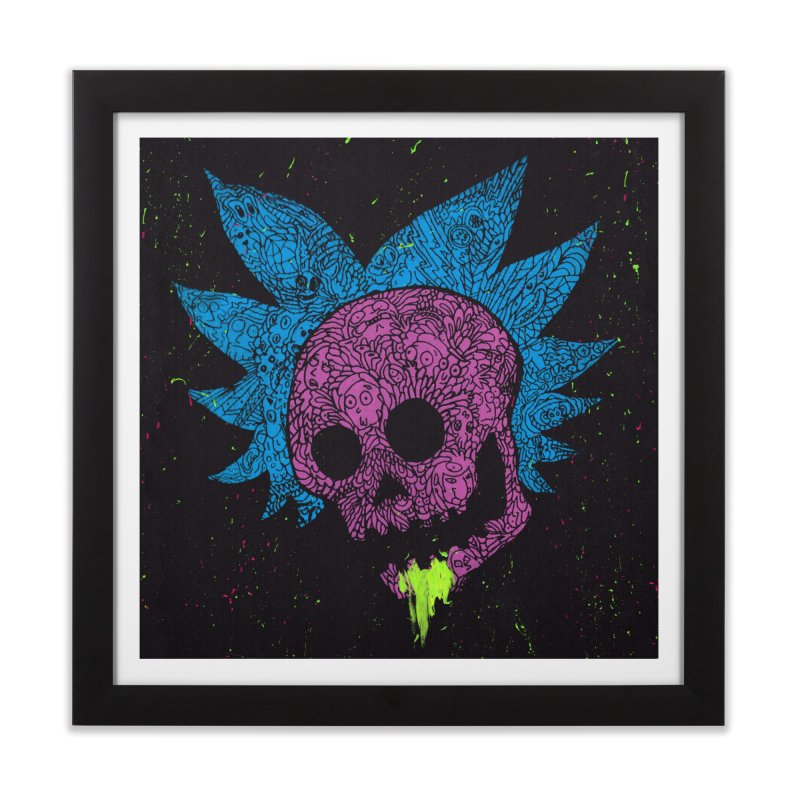 Inner Ricktum Home Framed Fine Art Print by Jason Castillo Illustration