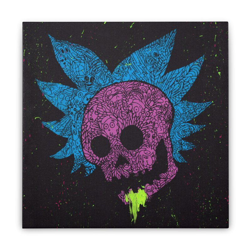 Inner Ricktum Home Stretched Canvas by Jason Castillo Illustration