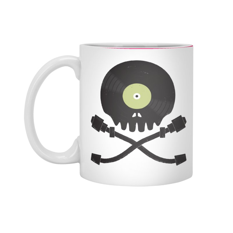 Vinyl till Death Accessories Mug by Jason Castillo Illustration