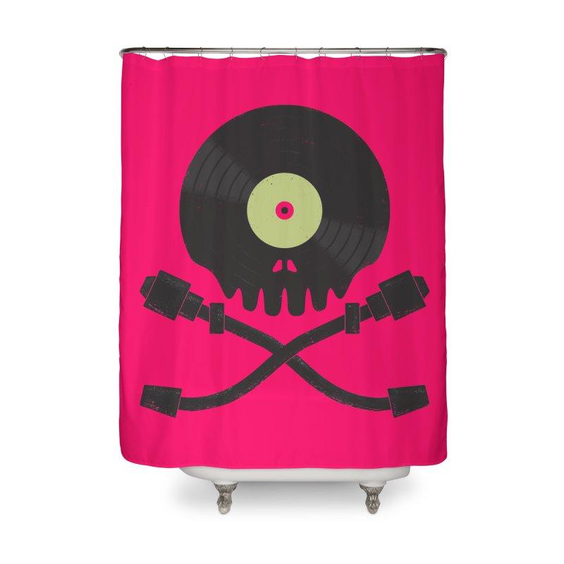 Vinyl till Death Home Shower Curtain by Jason Castillo Illustration