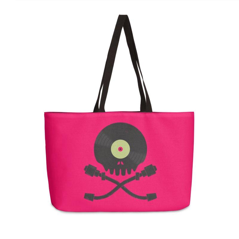 Vinyl till Death Accessories Weekender Bag Bag by Jason Castillo Illustration