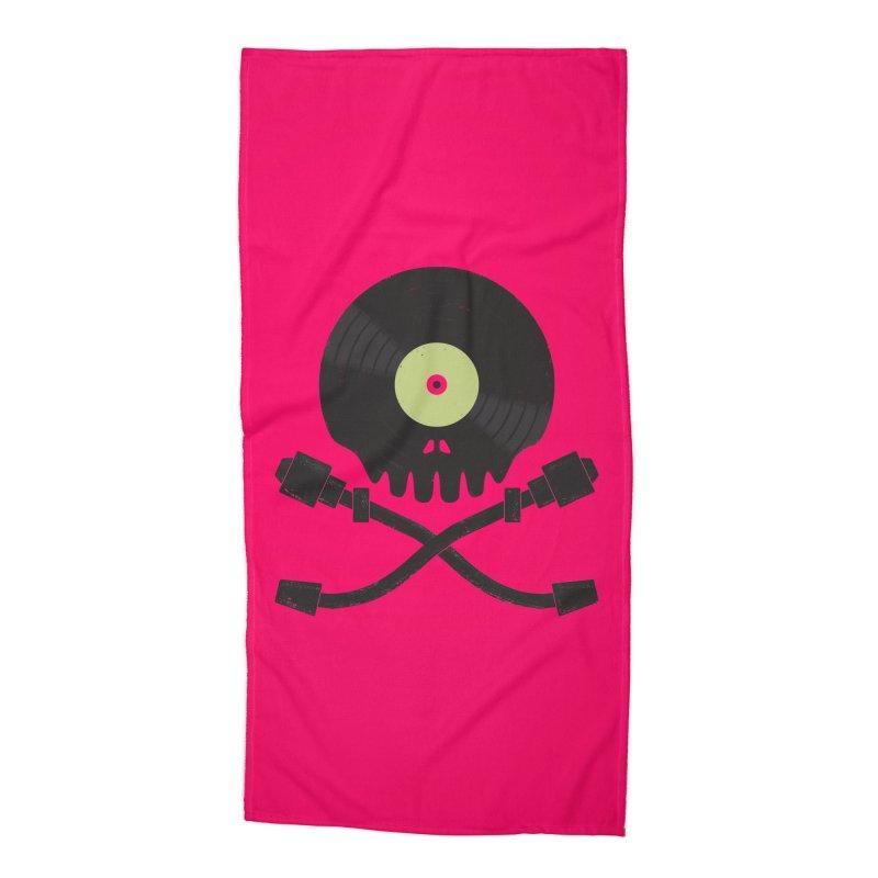 Vinyl till Death Accessories Beach Towel by Jason Castillo Illustration