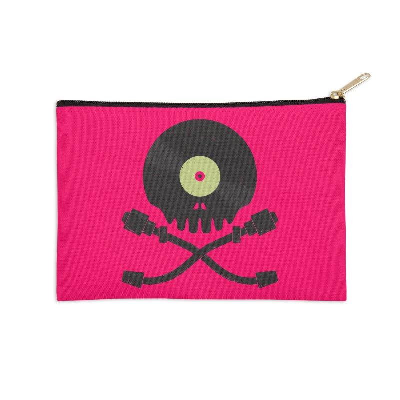Vinyl till Death Accessories Zip Pouch by Jason Castillo Illustration