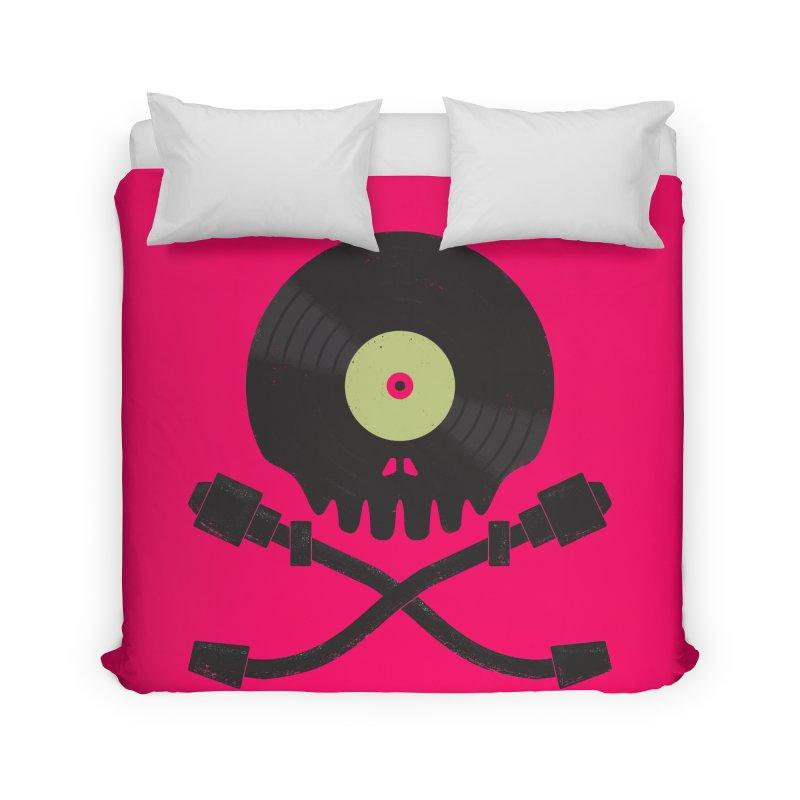 Vinyl till Death Home Duvet by Jason Castillo Illustration