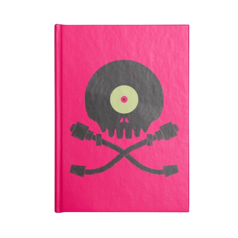 Vinyl till Death Accessories Lined Journal Notebook by Jason Castillo Illustration