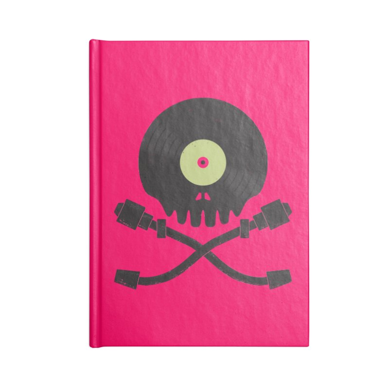 Vinyl till Death Accessories Notebook by Jason Castillo Illustration