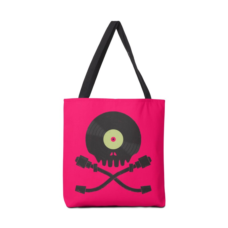 Vinyl till Death Accessories Tote Bag Bag by Jason Castillo Illustration