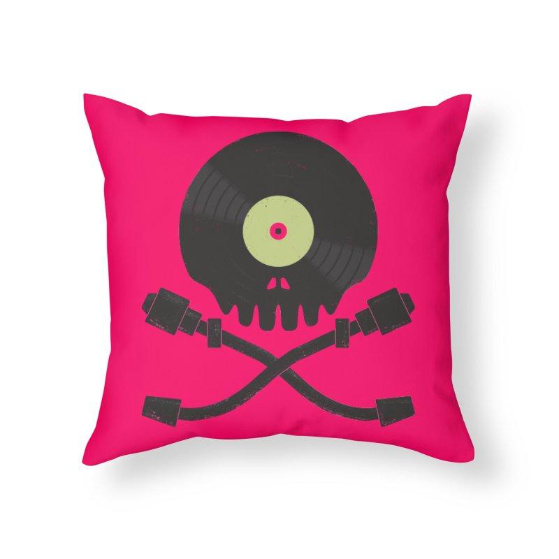 Vinyl till Death Home Throw Pillow by Jason Castillo Illustration