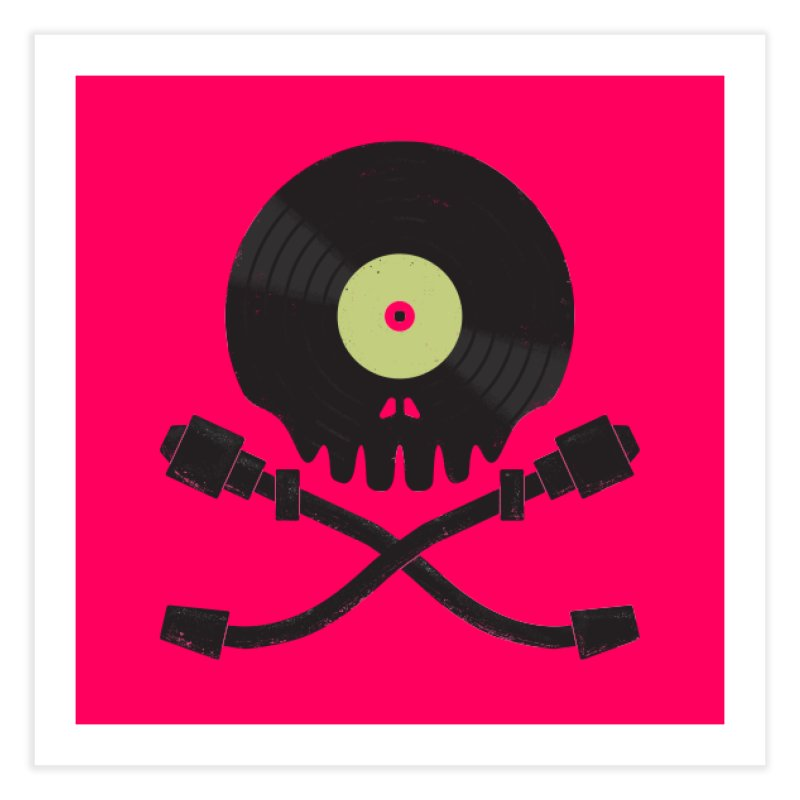 Vinyl till Death Home Fine Art Print by Jason Castillo Illustration